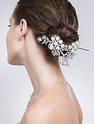 Women Alloy Hair Tool With Imitation Pearl/Rhinestone Wedding/Party Headpiece
