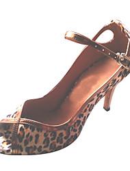 Zapatos de baile (Azul/Leopardo) - Salsa Tacón Personalizado