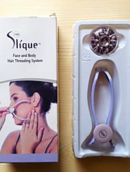 rosto sistema de cabelo de segmentação corporal / facial removedor de pêlos do corpo rosto removedor de pêlos primavera Epistick depilador