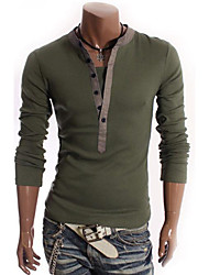 Camisa Casual ( Acrílico / Algodão Organico ) MEN - Casual Suporte - Manga Comprida