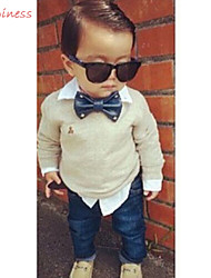 Boy's Polyester / Cotton Blend / Denim Clothing Set,Spring / Fall Solid