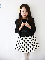 Girl's Summer/Spring/Fall Opaque Long Sleeve Dress (Cotton Blend)