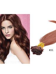 """18 """"-30"""" Brasilianische reine Haarverlängerung i spitzen Haarverlängerung 1g / strand 100g / pc Keratinhaarverlängerung"""
