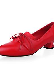 Chaussures Femme - Bureau & Travail / Habillé / Décontracté - Noir / Rouge - Gros Talon - Talons / Bout Pointu / Bout Fermé - Talons -