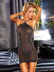 Women Lycra Sexy Slim Sexy Little Fantasies/Sleepwear Gowns Black