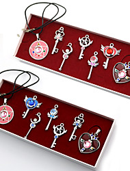 Jewelry Inspired by Sailor Moon Sailor Moon Anime Cosplay Accessories Necklace Red / Blue Alloy Female