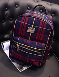 College Wind Backpack Plaid Travel Bag