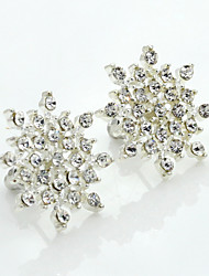Stud Earrings Crystal Rhinestone Gold Plated Simulated Diamond 18K gold Fashion Silver Jewelry 2pcs