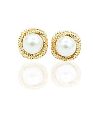 Earring Stud Earrings Jewelry Women Alloy / Imitation Pearl / Gold Plated 1set Gold