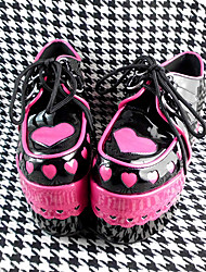 Handmade Red 12cm High Heel Sweet Lolita Shoes