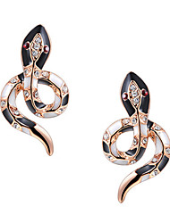 Women's Fashion Elegant Snake Alloy Stud Earrings