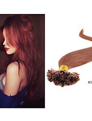 "1pc/lot 18""-30""Brazilian U Tip Hair Extensions Fusion Nail Tip Hair Extension Nail Tip Hair Extension1g/strand 100g/pc"