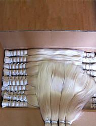 """3pcs / lot 14 """"-34"""" capelli all'ingrosso brasiliano per intrecciare # 613 300g bionda treccia umano massa dei capelli"""