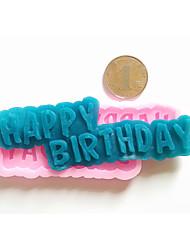 signes joyeux anniversaire fondant gâteau de silicone du moule décoration moule