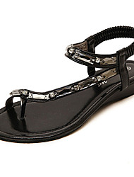 Women's Shoes Flat Heel Gladiator Sandals Casual Black/Gray/Gold