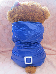 Dog Hoodies - XS / S / M / L - Winter - Red / Blue Mixed Material