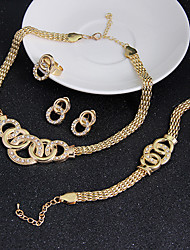Women's Jewelry Set Earrings Bracelet Statement Jewelry Vintage Costume Jewelry Cubic Zirconia Circle Necklaces Earrings Rings Bracelets