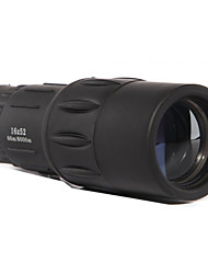 16X 52 mm Einäugig BAK4 High Definition 66m/8000m Vollbeschichtet Allgemeine Anwendung Zoom-Ferngläser Schwarz