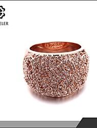 Sjeweler Girls Engagement Rose Gold Plated Zircon Ring