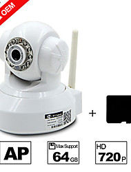 Besteye® H.264 WIFI Camera IP HD 720P 1.0m Pixels PTZ IR Night Vision Wired/Wirless with SD Card