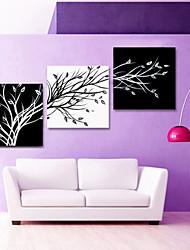 star®black visuelle et blanc abstraite toile arbre art mur pour le salon décoration prêt à accrocher