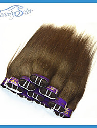 Clearence Wholesale Cheap Peruvian Human Hair Straight 3Kg 60Pieces Grade5A Color Brown No Shedding No Tangles