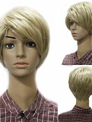 European and American Fashion Men Burst in Golden Hair High Quality Wig