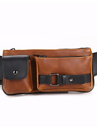 Quick Dry/Rain-Proof/Dust Proof/Wearable Belt Pouch Cycling 1 L Brown PU Leather