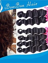 cabelo humano peruano tecer 3pcs onda profundas
