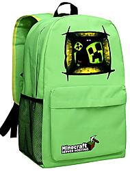 50L Minecraft backpack Enderman day pack New School bag Nylon rucksack Game daypack Green 052