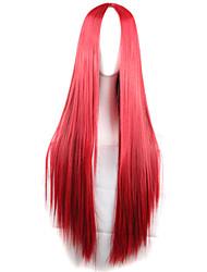 fashion girl must-have perruque de longs cheveux raides de rad de haute qualité naturelle
