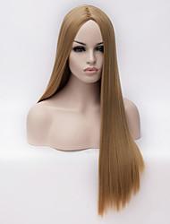 europeu e americano de alta qualidade de seda de alta temperatura peruca longa reta cabelo da menina da forma necessária