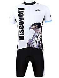 Clothes With Cycling Tops+Padded Shorts Jersey
