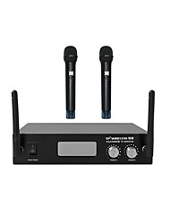 TP-WIRELESS 2 Channel 2.4GHz Handheld Digital Wireless Microphone Mic System