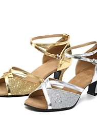 Non Customizable Women's Dance Shoes Paillette Paillette Latin / Ballroom High Heels Chunky HeelIndoor / Practice / Beginner /