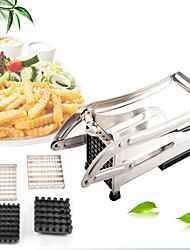 Stainless Steel Kitchen Potato Chips Cutter Machine Maker Slicer Chopper Dicer with 2 Blades