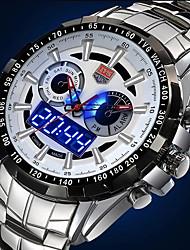 relojes de los hombres multifuncionales dos veces agua 50m zonas de lujo deportivos resistentes pulsera (colores surtidos)