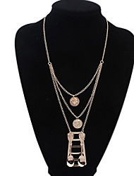 Women's Europe And The United States Multilayer Spoon Alloy Necklace Sweater Chain