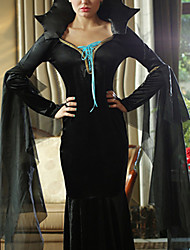 Luxury Black Dress Evening Dress Vampire Halloween Witch Queen