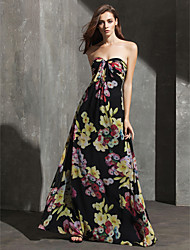 Formal Evening Dress - Print Plus Sizes / Petite Sheath/Column Sweetheart Floor-length Chiffon