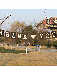 """New!!! Kraft Paper""""THANK YOU""""Wedding Party Banners"""