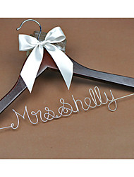 Personalized Wedding Dress Hanger, Custom Bridal Bridesmaid hanger, Wire Name Hanger Font C