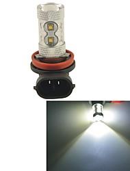carking ™ h8 / h11 50w 6000k 10smd 2800 ml lumière blanche conduit brouillard ampoule lampe de tête de la lumière de conduite (dc 12v)