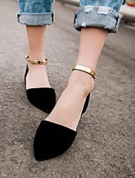 Chaussures Femme - Habillé / Décontracté - Noir / Vert / Rose / Beige - Talon Plat - Bout Pointu - Plates - Similicuir