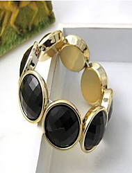 MPL Elegant single layer elastic mysterious black gem round Bracelet