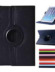 360 graus de rotação de 100% pu couro cobertos incluem de volta capinha de corpo inteiro para o ar ipad (cores sortidas)