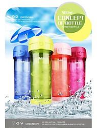 500 мл ПП материала бутылка воды (4 цвета) для езды на велосипеде / туризм / рыбалки