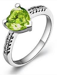 Anéis Peridoto Prata Prata Mulheres