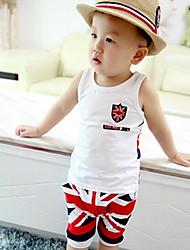 Boy's Summer Print Sleeveless Clothing Sets (Cotton)