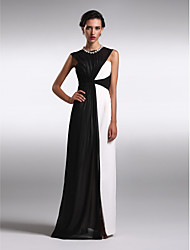 TS Couture® Formal Evening Dress Plus Size / Petite Sheath / Column Bateau Floor-length Chiffon with Criss Cross